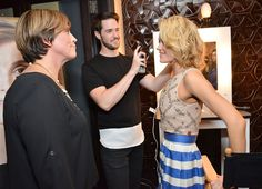 LOS ANGELES, CA - APRIL 30: Sara Jones VP of Joico, Peta Murgatroyd and Paul Norton celebrity hair stylist attend the Joico's Hair Shake Launch hosted by Peta Murgatroyd at The District Restaurant on April 30, 2015 in Los Angeles, California