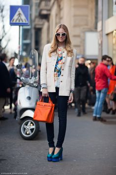 Chiara Ferragni from The Blonde Salad wearing an MSGM top