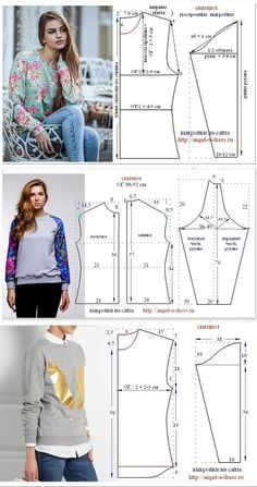 Sewing ✂ Patterns. Sweatshirts