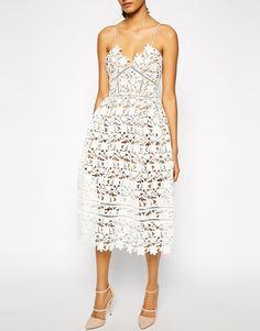Image 3 ofSelf Portrait Azaelea Midi Dress In Textured Lace