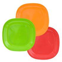 "Bulk Bright Square Melamine Plates, 11"" at DollarTree.com"