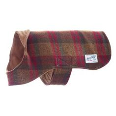 DOG BANDANA Over Collar XS-L UPCYCLED TAN /& BRICK RED PLAID Fall Recycled