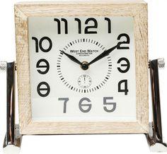 Stolní hodiny Cube Small Teak, Clock, Wall, Design, Home Decor, Watch, Decoration Home, Room Decor