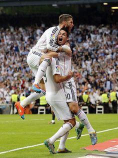 Jamesito Jameson celebrando un gran gol. RM vs Barca 25.10.14