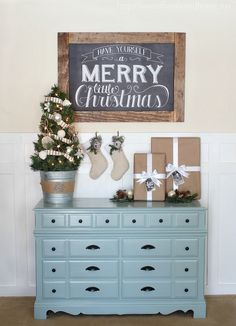 Love this Christmas Vignette | Love of Family & Home