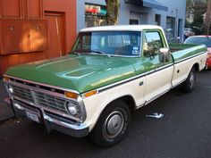 Old Parked Cars.: 1974 Ford F100 Pickup.  Mere wants an old vintage truck like this!