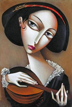 For her first major show in Italy (1925),Lempicka painted 28 new works in six months.She was soon the most fashionable portrait painter of her generation. Through her network of friends,she was able to display her paintings in the most elite salons of the era.