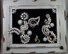 Framed Vintage Jewelry Art Cascade of by RegalRabbitVintage
