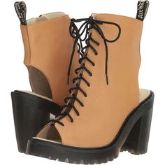 Dr. Martens Carmelita (Tan San Diego) Women's Boots ($60) ❤ liked on  Polyvore featuring shoes, boots, tan, chunky high heel boots, platform boots,  tan high ...