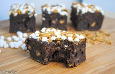 S'mores Protein Brownies