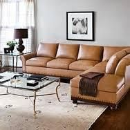 Create an elegant group seating arrangement with this traditional sectional sofa create the perfect spot for hanging out with friends or relaxing with your feet up.  Rolled arms, bun wood feet and nailhead trim exude grace and prestige, while polyurethane foam cushions and top-grain leather upholstery are the epitome of seating comfort. Only Aniline-dyed leathers of top grain are used.  Leather  Kiln-dried, 100% alder hardwood frames. Major frame joints are glued, stapled and corner blocked…
