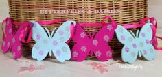 BUTTERFLIES and DAISIES Wooden Bunting  Free UK by CatchaDragonfly, £18.00