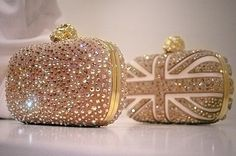 Alexander McQueen Jeweled & Beaded Union Jack Cluch. love love love..