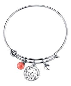 Another great find on #zulily! Cherry Quartz & Sterling Silver 'You Can Do It' Bangle #zulilyfinds