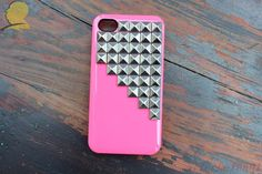 Silver pyramid screw 4/4 s iphone case by alicehelen01 on Etsy... yes.