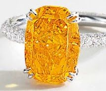 The Mandarin Orange is a cushion shaped 4.19 ct. fancy vivid orange VVS1 diamond. It sold for $2,956,410 in 2011.