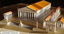 Templo de Venus y Roma se sitúa en el extremo oriental del Foro Romano, cerca del Coliseo. Se cree que fue el templo más grande de la Antigua Roma.