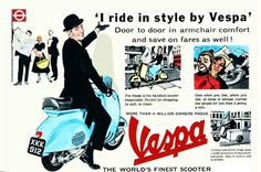 RETRO SCOOTER GARAGE: I ride in style by Vespa