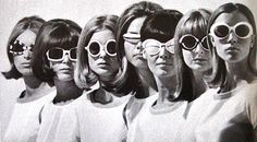 "The mod style won out over the rockers in Great Britain in the 1960s. Fashions for the mods included longer hairstyles and these funky glasses, which were based off of ""granny"" glasses."