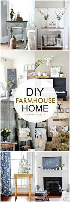 DIY Home Decor - Love these farmhouse decor ideas at the36thavenue.com ...So much inspiration! (Diy Home Decor)