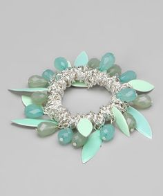 Take a look at this Silver & Turquoise Stretch Bracelet by Sylvia Alexander on #zulily today!