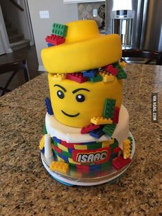 Cake that a friend made for my son's Lego themed party. She did an amazing job.