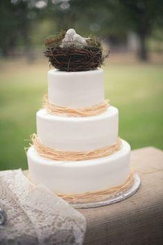 Wedding Cake // CoryOnealPhotography #cake #wedding #rustic #shabby #white