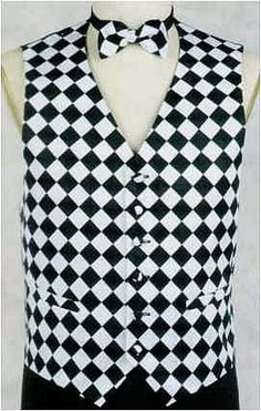 Racing Checkered Flag Tux Vest