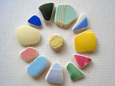 Genuine Beach Sea Pottery Shards Jewelry by TidesTreasures on Etsy, $16.00 #sea_pottery