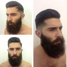 Chris John Millington - awesome hairstyle beards full dark thick beard bearded hairstyles for men man undercut barber - looks so nice #goodhair