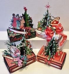 Hi everyone :-)   Here is a tutorial on how to make a toilet paper roll gift box. These can be used for Christmas gifts, a Birthday gift o...