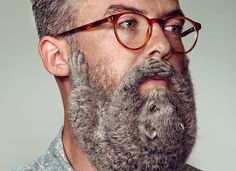 YR grow animal beards for schick's free your skin campaign