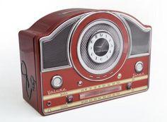 Blechdose-Gebaeckdose-Vorratsdose-Radio-Nostalgie-23-cm-Schmuckdose-NEU
