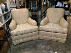 Gorgeous Brocade Arm Chairs   From The Broadmoor Resort In Colorado Springs  $495 Pair   Eclectic Treasures Booth #8279  Lula B's  1010 N. Riverfront Blvd. Dallas, TX 75207  Like us on Fa
