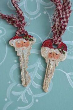 Christmas Ornaments To Make, Easy Christmas Crafts, Noel Christmas, Christmas Projects, Simple Christmas, Vintage Christmas Crafts, Santa Ornaments, Christmas Makes To Sell, Pinterest Christmas Crafts