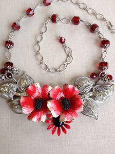 Necklace and earring set Assemblage by ChicMaddiesBoutique on Etsy
