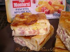 Pizza rustica ricotta e pancetta,ricetta salata