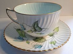 Cyclamen EB Foley bone china cup and saucer 3723