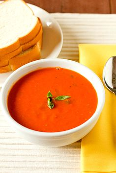 Creamy Tomato-Basil Soup - without using cream.
