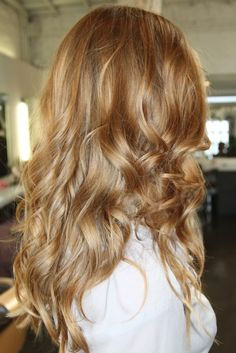 Honey golden auburn blonde! Warmsunkissed tones. Subtle highlights and subtle faint ombre.