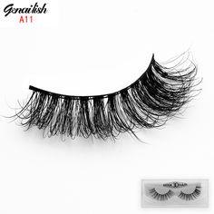 1 pair bulu mata palsu 3d mink lash ekstensi bulu mata bulu mata palsu bulu mata buatan tangan alami untuk beauty makeup-a11