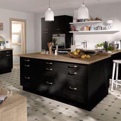 cuisine noire mat castorama, 539E