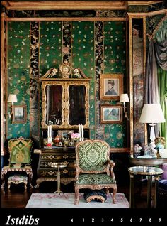 Ann Getty Chinoiserie living room
