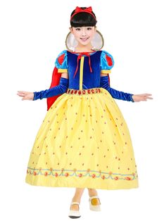 28.69$  Know more  - Fashion high quality 6 layers cotton lining birthday party dresses for girls size 4 to size 12 snow white costume kids