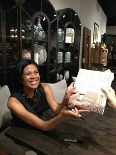 Robin Wilson signs books at ASID event after keynote speech, Austin