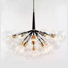 Features: High Quality: Metal And Glass Material, Resistant To Fade, Rust And Corrosion Modern Design Durable, It Is An Ideal Choice For Houses With Modern, Simple Or Nordic Style decoration. Chandelier Bulb: G4 Light Socket Work Well For Led, CFL, Incandescent Bulb(Bulb Not Included In The Product). Whether Your Ceili Lampshade Chandelier, Bubble Chandelier, Chandelier In Living Room, Chandelier Pendant Lights, Modern Chandelier, Luxury Chandelier, Crystal Chandeliers, Sphere Light Fixture, Hanging Light Fixtures