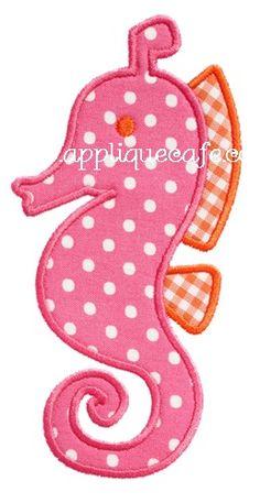 Seahorse 2 Applique Design