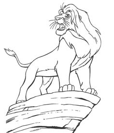 Mufasa On The Cliff Edge Coloring Page From Lion King Category Select 28148 Printable Crafts Of Cartoons Nature Animals Bible And Many More
