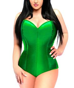 This Green Sweetheart Corset Romper - Women & Plus is perfect! #zulilyfinds