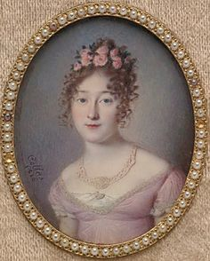 GibsonGrrl News    Regency-era miniature portrait    GGN favorite